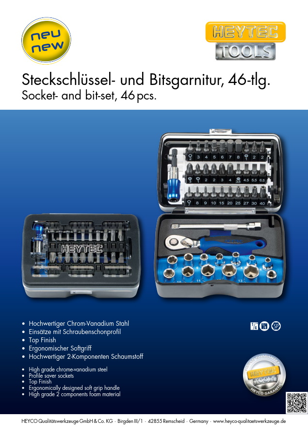 Socket and bit set 46 pcs