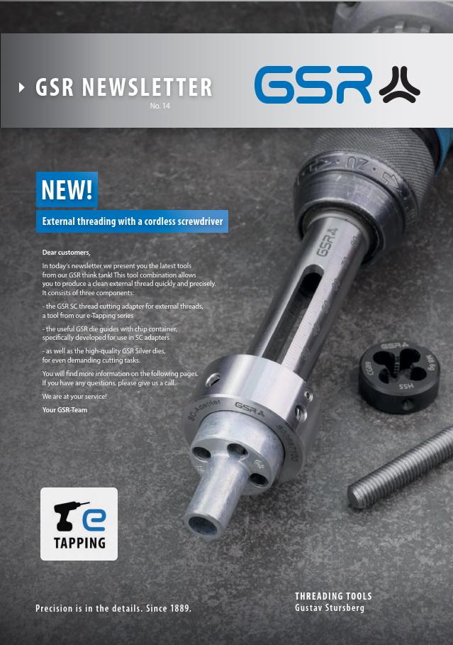GSR newsletter: External threading with a cordless screwdriver