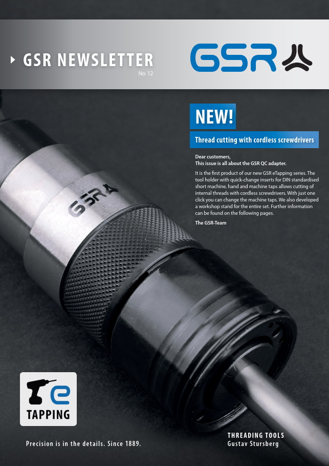 GSR newsletter: Thread cutting with cordless screwdrivers