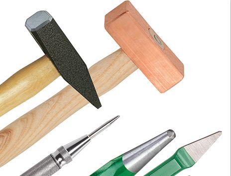 Молотки, зубила, пробойники, труборезы, измерительный инструмент, съемники подшипников